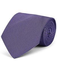 Ralph Lauren Purple Label - Geometric-pattern Silk Textured Necktie - Lyst