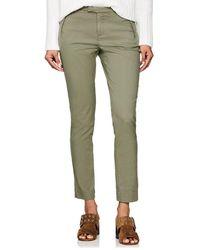 ATM - Piqué Cotton Crop Trousers - Lyst