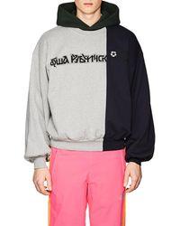 Gosha Rubchinskiy - Colorblocked Cotton Terry Sweatshirt - Lyst