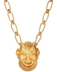 Gucci - Mask Of Silenus Pendant Necklace - Lyst