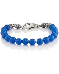 Emanuele Bicocchi - Lapis Lazuli Beaded Bracelet - Lyst