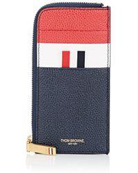 Thom Browne - Leather Half-zip Card Case - Lyst