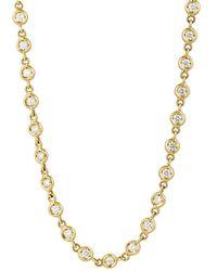 Sidney Garber - White Diamond & Yellow Gold Superlative Necklace - Lyst
