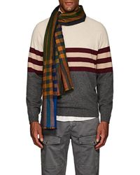 Drake's - Checked Cashmere Scarf - Lyst