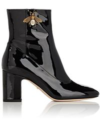 Gucci - Lois Patent Leather Ankle Boots - Lyst
