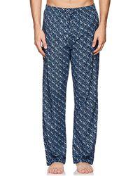 Derek Rose - Ledbury Cotton Poplin Pajama Pants - Lyst