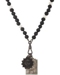 Miracle Icons - Vintage-icon Lava Bead & Pearl Necklace - Lyst