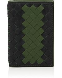 Bottega Veneta - Intrecciato Leather Folding Card Case - Lyst