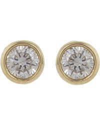 Jennifer Meyer - Diamond Bezel Stud Earrings - Lyst