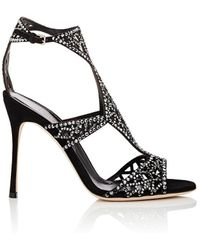 1a3539cd1 Sergio Rossi Tresor Swarovski Crystal Sandals in Metallic - Lyst