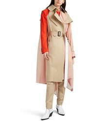 Sacai Colorblocked Patchwork Trench Coat