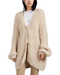 The Row - Seilde Rib-knit Cashmere-silk Oversized Cardigan - Lyst