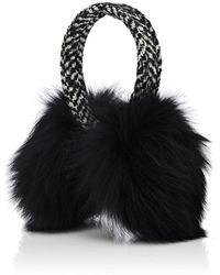 Eugenia Kim - Janine Wool-blend Tweed & Fox Fur Earmuffs - Lyst
