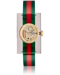 Gucci - Red & Green Plexiglass Skeleton Watch - Lyst