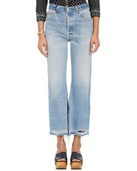 RE/DONE - Leandra Crop Flared Levi's® Jeans - Lyst