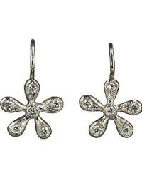 Cathy Waterman - Pave Diamond Medium Daisy Earrings - Lyst