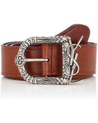 Saint Laurent - Monogram Celtic Leather Belt - Lyst