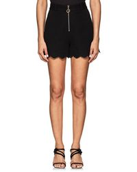 10 Crosby Derek Lam - Eyelet-detailed Cotton-blend High-waist Shorts - Lyst