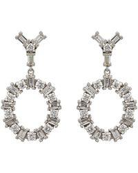 Ileana Makri - White Diamond Double-drop Earrings - Lyst