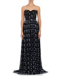 Sophia Kah - Embroidered Strapless Gown - Lyst