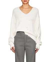 Helmut Lang - Distressed Cotton-wool V - Lyst