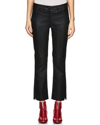 3x1 - Leather Crop Flared Jeans - Lyst
