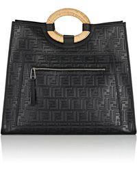 Fendi - Runaway Leather Tote Bag - Lyst