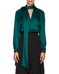 Juan Carlos Obando - Washed Satin Blouse - Lyst
