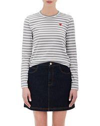 Play Comme des Garçons - Striped T-shirt - Lyst