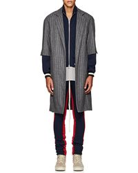 Fear Of God - Thedrop@barneys: Pinstriped Wool Oversized Cardigan - Lyst