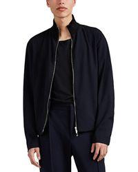Giorgio Armani - Wool-blend Seersucker Crepe Bomber Jacket - Lyst