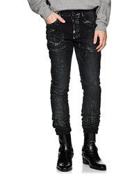 Purple - P001 Metallic Slim Jeans - Lyst