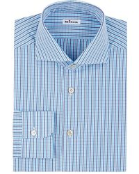 Kiton - Checked Cotton Dress Shirt - Lyst