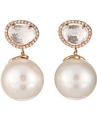Samira 13 - Pearl Drop Earrings - Lyst