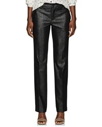 PT01 - Francy Wool-blend Lamé Straight Trousers - Lyst