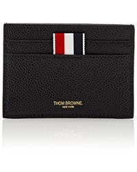 Thom Browne - Striped-inset Leather Card Case - Lyst