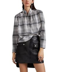 Robert Rodriguez - Emery Checked Cotton Blouse - Lyst