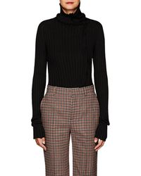 Yohji Yamamoto - Rib-knit Wool-blend Turtleneck Sweater - Lyst