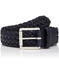 Barneys New York - Braided Bridle Leather Belt - Lyst