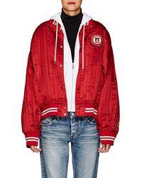 Undercover - Patch-appliquéd Silk Satin Varsity Jacket - Lyst