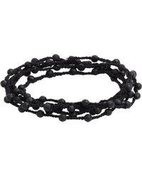 Feathered Soul - Agate Bead & Braided Silk Wrap Bracelet - Lyst