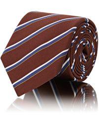 Barneys New York - Striped Silk - Lyst