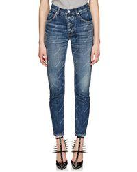 Balenciaga - Logo-print Slim Jeans - Lyst