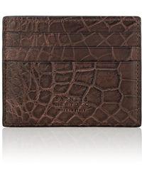 Barneys New York - Alligator Card Case - Lyst