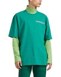 CALVIN KLEIN 205W39NYC - Logo Cotton Crewneck T-shirt - Lyst