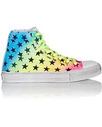 d1bb6ab4b23 Amiri - Multicoloured Rainbow Star High Top Trainers - Lyst