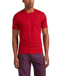 Zimmerli - Ribbed Stretch-cotton T-shirt - Lyst