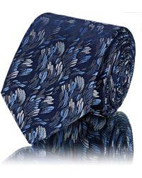 Lanvin - Brushstroke Silk Jacquard Necktie - Lyst