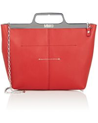 MM6 by Maison Martin Margiela - Leather Crossbody Bag - Lyst