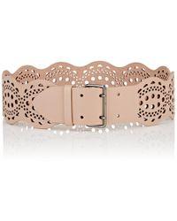 Alaïa - Mini Vienne Leather Belt - Lyst